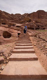 Turisti Petra Jordan Fotografie Stock