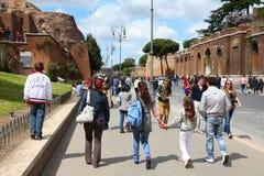 Turisti a Roma Immagine Stock