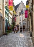 Turisti in Sancerre Cher fotografia stock libera da diritti