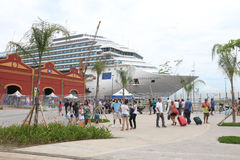 20.000 turisti sbarcano dalle navi transatlantiche in Rio de Jan Immagine Stock Libera da Diritti
