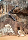 Turisti in Sigiriya fotografie stock