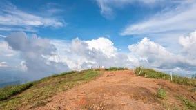 Turisti sul punto di vista del 'chi' Fa di Phu Immagini Stock Libere da Diritti