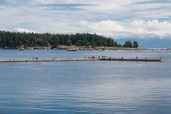 Turisti sull'argine in Nanaimo Fotografia Stock
