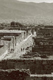 Turisti veduti dalle vie di Pompei Immagine Stock
