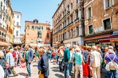 Turisti a Venezia Immagini Stock