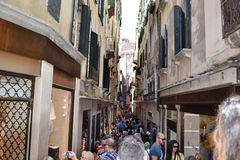Turisti a Venezia, Italia immagine stock