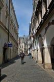 Turisti in vicolo Liberec - repubblica Ceca di Mosca Fotografia Stock Libera da Diritti