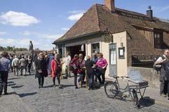 Turisti a Wurzburg, Germania Fotografia Stock Libera da Diritti