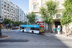 Turistic Bus in Barcelona Stock Photography