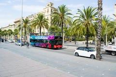 Turistic bus in Barcelona Spain Stock Photos