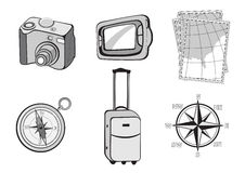Turistic icons Stock Photography