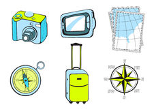 Turistic icons Stock Images
