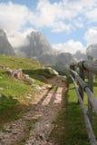 Turistic Methode im Dolomit lizenzfreie stockfotografie