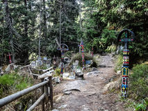 Turistic road in Vysoke Tatry Royalty Free Stock Images