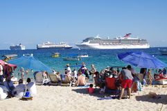 Turists at the beach in Cabo San Lucas Royalty Free Stock Image