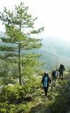 Turists no hike Imagem de Stock