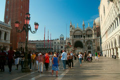 Turists in St Mark's Square Royalty Free Stock Image