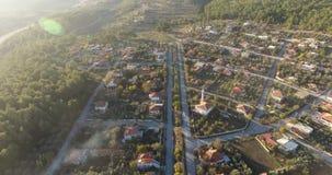 Turk Anatolia Village Aerial arkivfilmer