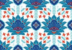 Turk arabiska, afrikan, traditionell sömlös keramisk tegelplatta för islamisk för ottomanvälde era för ` s, blom- tapetvektor royaltyfri illustrationer