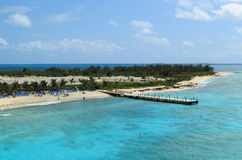 Turk and Caicos Islands. View at pier of turk and caicos Islands Stock Image