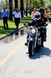 Turk Chopper members riding their motorcycle at Orange Blossom Carnival Stock Photos