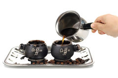 Turk and coffee cup coffee Stock Image