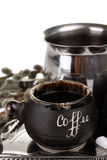 Turk and coffee cup coffee Royalty Free Stock Images