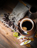 Turk and coffee Turkish deligh Royalty Free Stock Images