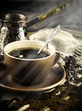 Turk and coffee Royalty Free Stock Photo
