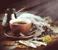 Turk and coffee Royalty Free Stock Images