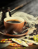 Turk and coffee Royalty Free Stock Photography