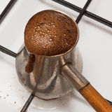 The Turk for cooking of coffee Royalty Free Stock Photo
