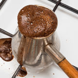 The Turk for cooking of coffee Royalty Free Stock Photography