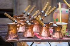 turk för kaffeset Royaltyfria Bilder