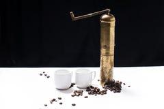 turk för kaffeset Fotografering för Bildbyråer