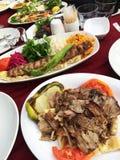 turk för kebab för detaljdonerdonner Fotografering för Bildbyråer