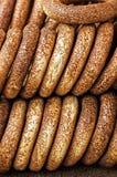 turk för simit t för rkish s för bagelsnabbmatmedel arkivfoton
