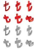 turk för symbol för bana för clippinglira ny Royaltyfria Bilder