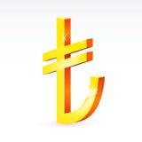 turk för valutaliratecken Arkivbilder