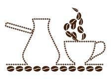 Turk, kaffe & kruka Arkivbild