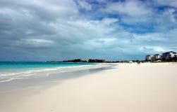 Turk- och Caicos strandsemesterort Arkivbilder
