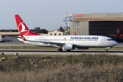 Turk 737 som tar av Royaltyfri Bild