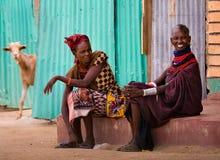 Turkana kobieta w tradycyjnym odziewa Zdjęcia Royalty Free