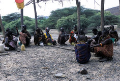 Turkana old women. The old women of the Turkana tribe Kenya Stock Photos