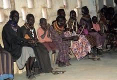 Turkana old women and children. The women and children of the Turkana tribe Kenya Royalty Free Stock Photography