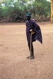 A Turkana shepherd. A shepherd of the Turkana tribe Kenya Royalty Free Stock Photography