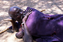 A Turkana shepherd sleeping Royalty Free Stock Image