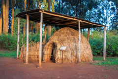 Turkana tribe hut in Kenyan open-air museum, East Africa royalty free stock image