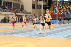 Turkcell Turkish U20 Indoor Athletics Championships Stock Photo