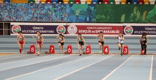 Turkcell Turkish U20 Indoor Athletics Championships Royalty Free Stock Photo